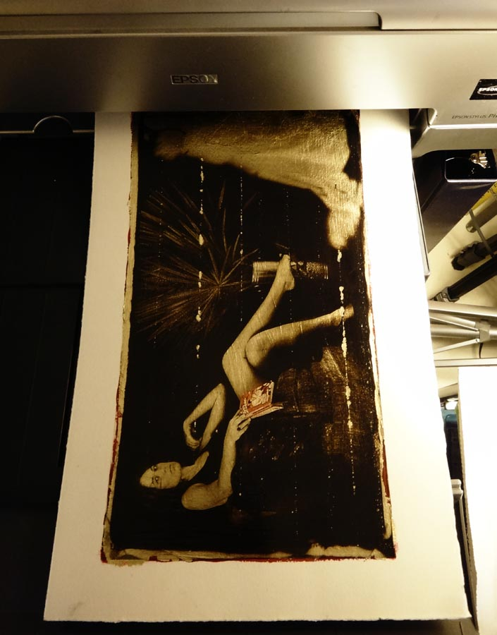 Printing on Gold Leaf… again | christian harkness – photo blog